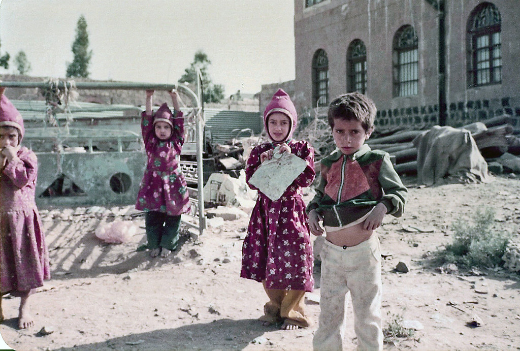"""""""Kids Playing in the Street - Sana'a, Yemen 1982"""" by Gareth1953 All Right Now is licensed under CC BY 2.0"""