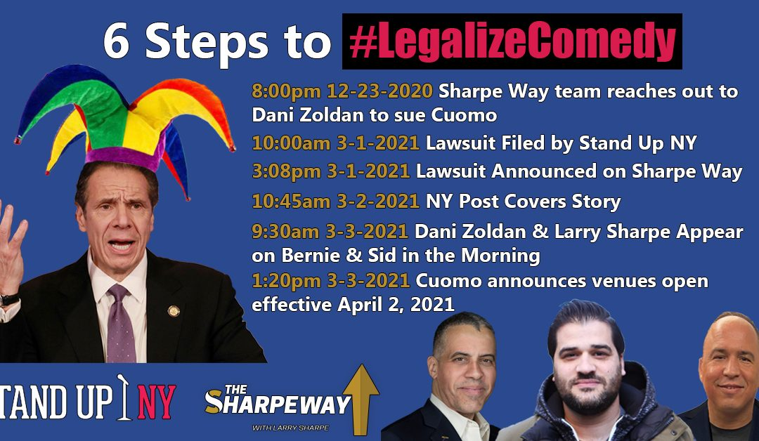 """The Liberator"" Larry Sharpe Beats New York Governor Cuomo with Venue Lawsuit and Media Blitz"